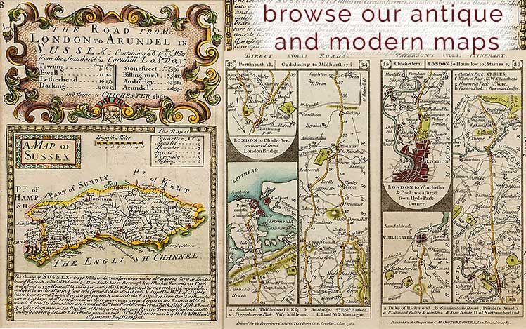 Browse our Antique and Modern Maps