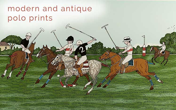 Modern and Antique Polo Prints