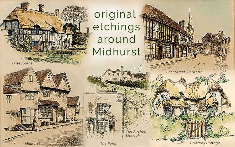 Original Etchings around Midhurst