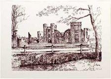 Midhurst Ruins (B&W)