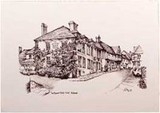 The Spread Eagle Hotel, Midhurst (B&W)