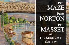 Paul MAZE, Peter NORTON, Paul MASSET - An Exhibition of Original Works at The Midhurst Gallery- Image