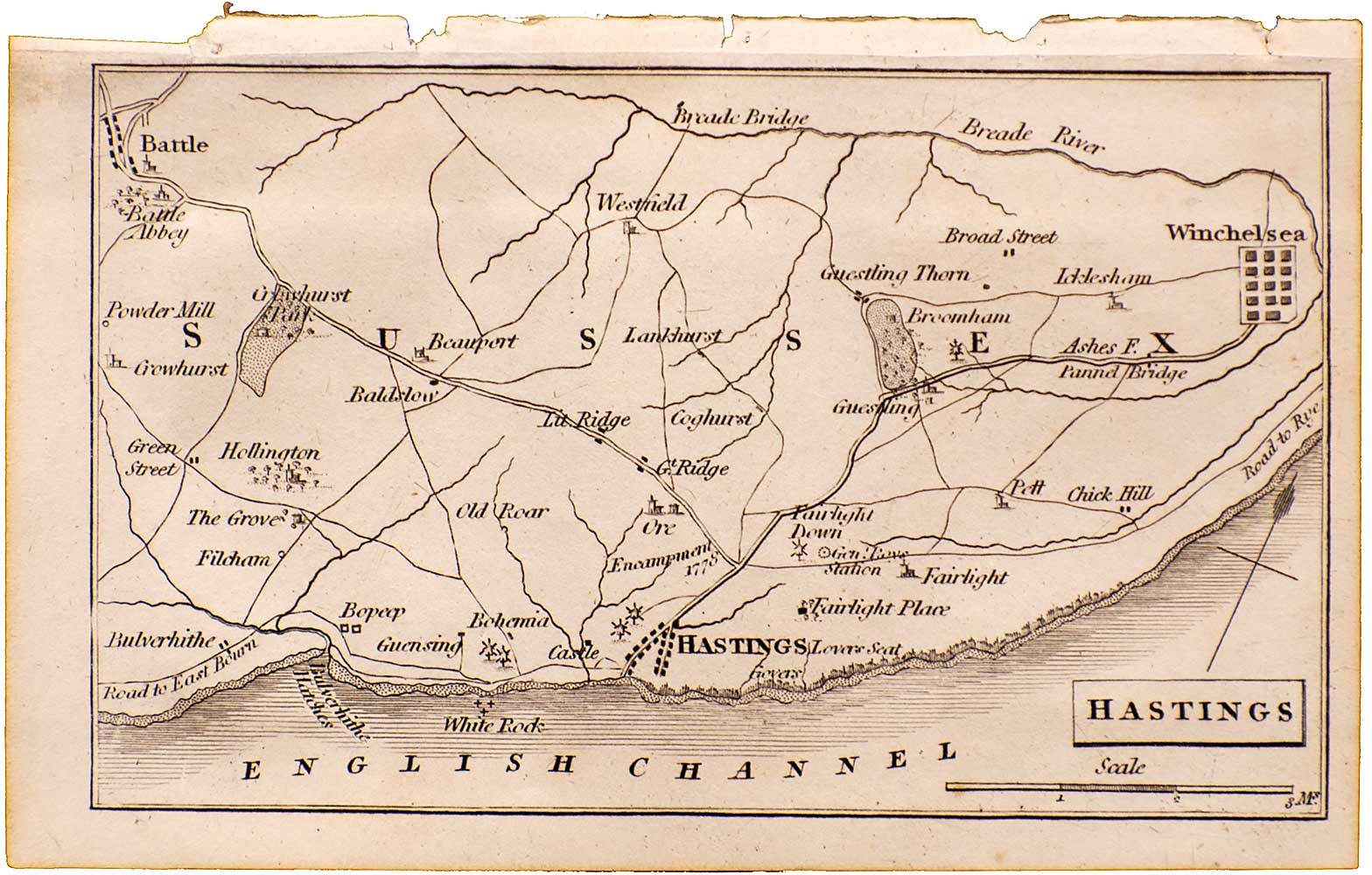 Hastings Miniature Map