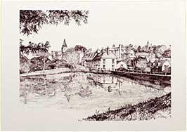 midhurst-pond-b-w