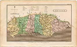 Capper's Map Of Sussex