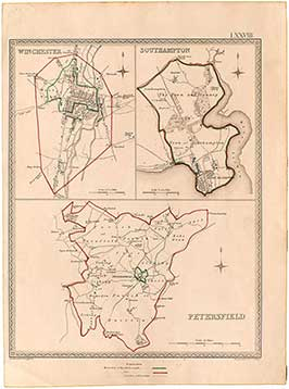 Petersfield, Winchester & Southampton Town Plans