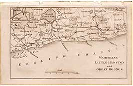 Worthing, Little Hampton & Great Bognor Miniature Map