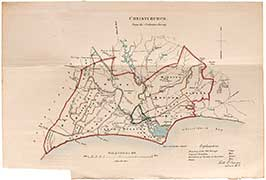 Christchurch Map From The Ordnance Survey (1)