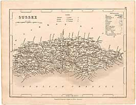Dugdale's Map Of Sussex